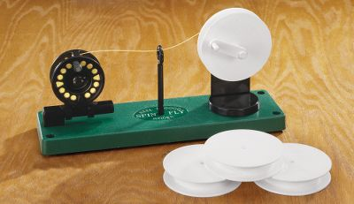 Flyfishing Quickly change, store or clean your fly line. After attaching the reel and while winding the line onto the storage spool, run it through a pad of line cleaner. While rewinding onto your reel run the line through a dry pad to remove excess cleaner and polish your line. It's that easy to extend the life of your fly line. Centerline guide ensures tangle free exchanges. Right-or-left hand operation. Includes an extra storage spool. Also works great to load backing onto your reel. Also compatible with spinning, baitcasting and conventional rods. - $45.49