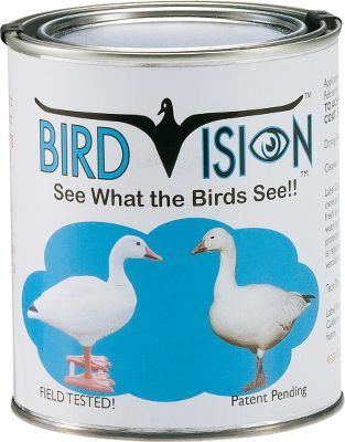 Hunting Power up the birds-eye realism of your favorite decoys with paint that reflects ultraviolet light. Available: Black Quart White Quart White Gallon Iridescent Green Pint Color: White. - $16.88