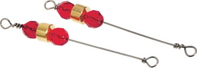 Fishing Replacement clacker assemblies for the Fergie Specials. Glass beads and a brass clacker on a steel rod produce fish attracting sound. Ideal for jigging a variety of deep-water species such as walleyes and stripers. Add to any jigging spoon for added attraction. Per 2. Made in USA. Colors: Red, Crystal. Color: Red. - $2.88