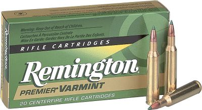 Hunting Premier Varmint centerfire ammunition provides an unsurpassed combination of accuracy, retained high velocity, flat trajectory and explosive on-game break-up. The extremely high small-caliber ballistic coefficient produces tack-driving, long-range accuracy. The unique AccuTip hollow- core tip builds momentum before smashing into core for explosive fragmentation. Per 20. Type: Centerfire Rifle. - $31.99