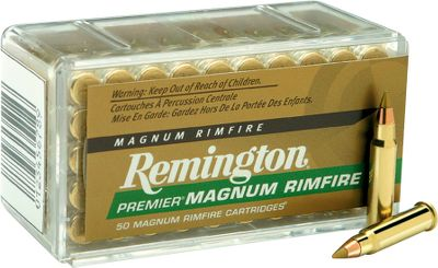 Enjoy consistent performance and improved accuracy from these Remington Premier 17-gr. .17 HMR rounds loaded with Accutip bullets. Take advantage of the great prices on 500-round lots and receive a new Dry-Storage box, a $14.95 value. - $149.99