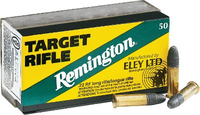 Hunting When it comes to rimfire ammo that wins matches, only Eley is worthy of the Remington name. This is serious .22 long-rifle ammunition for serious shooters who insist on exceptional accuracy and performance from each and every shot. Its loaded with Target Rifle 40-grain LRN bullets. Available: 250 rounds of Target Rifle LRN and one Dry-Storage box 500 rounds of Target Rifle LRN and one Dry-Storage box - $1,999.88