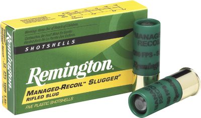 Hunting Slugger Managed-Recoil Rifled Slugs offer remarkably effective performance but with 45% less felt recoil than full velocity Sluggers. With effective energy out to 80 yards, these 1-ounce slugs easily handle the majority of shotgun deer hunting ranges. Less recoil means sighting-in at the range becomes a more comfortable, fun experience. And since the shooter is able to recover the target more quickly after firing, the accuracy and speed of the second shots is greatly improved. Per 5 rounds. - $5.99