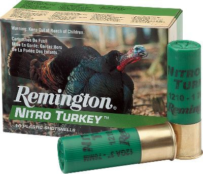Hunting Toms dont care what you paid for shells, and after an introduction to Nitro loads they wont care about anything. A great value with magnum grade hard lead shot that is buffered to pattern like copper, without the cost. Patterns over 80% with super full choke, for tremendous knockdown power at an affordable price. The 12-gauge, 3 shells deliver a 1-7/8 oz. payload of No. 4 shot at 1,210 feet-per-second. 10 rounds per box. Color: Copper. Type: Turkey Loads. - $7.99