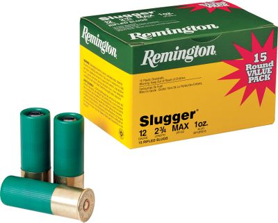 Hunting Dont chance the buck of a lifetime on an inferior-quality slug. Remingtons Slugger is now flatter-shooting and 25% more accurate, ensuring a clean kill. Available in convenient and economical 15-round boxes. Made in USA. - $15.99
