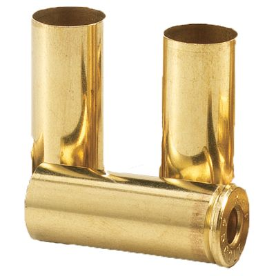 Remington Bulk Pistol Brass is great for building custom loads that shoot as well as factory ammunition. Drawn brass ensures durability and consistency to last through many reloading sequences. Unprimed pistol brass is available in a wide variety of calibers to fit your needs. Per 100. Type: Handgun Brass. - $24.99