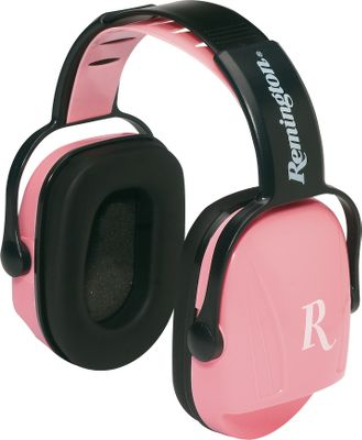 Adjustable headband offers a secure, customizable fit. Ample padding is comfortable on the ears. Gun stock cutout won't impede your shot. Features a distinguishable white R on each side. Noise Reduction Rating (NRR) of 22db. Color: White. Gender: Female. Age Group: Adult. Type: Non-Electronic Earmuffs. - $14.99