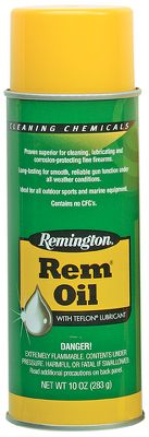 Keep your firearm working smoothly at all times with Remington's versatile Rem Oil. Their formula cleans away dirt and grime and also diplaces moisture for rust and corrosionproof protection. The exclusive Teflon formula provides a lubricating film, reducing metal-to-metal wear, keeping your action working smoothly. Available: 4-oz. aerosol can. Color: Rust. - $5.99