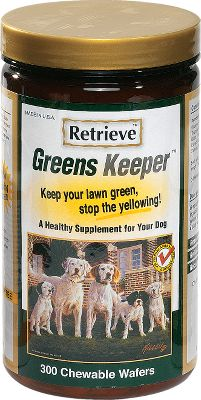 Hunting Greens Keeper prevents your dog's urine from making those unsightly yellow grass burns. Keep your beautiful lawn green by simply adding these chewable tablets to your dog's diet. Greens Keeper is a healthy food supplement containing B-Complex vitamins, amino acids and Biotin. This combination effects the ph balance of your dog's urine insuring greener lawns along with nutrients necessary for increased health. Size: 300 tablets. Color: Green. - $23.88