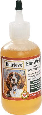 Hunting Retrieve Ear Wash is a mild, yet effective formula consisting of all-natural active ingredients for cleaning the ear canals of your dog. It can be used as often as needed and is especially recommended after bathing or swimming. It creates an environment for healthy tissue growth, and helps eliminate head shaking and ear scratching caused by dirty, inflamed ear tissue. Removing such debris can result in increasing your dog's hearing, balance, and quality of life. Contains witch hazel and tea tree oil, which act as a natural disinfectants and have been known to work for ear problems that are resistant to some powerful antibiotics. Echinacea extract is also added to reduce the rates of infection or duration or intensity of symptoms. Size: 4-oz. - $12.99