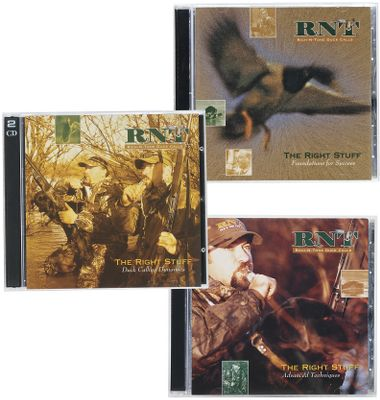 Hunting Rich-N-Tone Right Stuff CDs deliver all the calling tips and instructions you need to get the Right Stuff. The Box Set includes Foundations for Success, Advanced Techniques and Duck-Calling Dynamics. Type: Duck Calling CDs. - $31.88