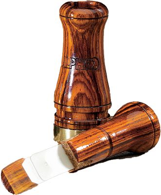 Hunting An all-business, live-hen sound with exceptional high-to-low tone range. Double-reed. Made in USA.Available: Cocobolo. - $79.99