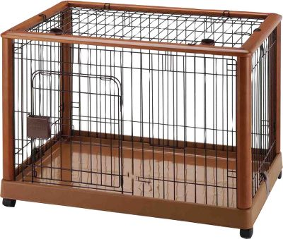 Hunting Move this classy-looking pet pen as needed for ultimate convenience. Its beautiful wood finish offers an elegant look that will blend with any decor. Casters with locks for ease of movement and safety. The washable plastic tray protects the floor from soiling or scratches. Available: Pet Pen 640 - 25.2 x 18.1 x 22.4H , 21.6 lbs. Pet Pen 940 - 36.8 x 24.2 x 26.0H , 39.6 lbs. Size: PET PEN 640. Type: Pet Crates & Furniture. - $149.99
