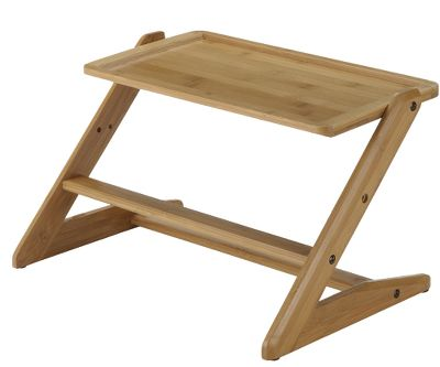 Hunting Award-winning, height-adjustable feeder and water tray will take your pup to new heights. The tray adjusts from 4.1 to 10.6 to keep up with your growing pup. Plus the ergonomic, elevated design minimizes discomfort for senior pets with stiff muscles or joints. Eco-friendly, sustainable, bamboo tray holds two bowls firmly in place (bowls not included). Rubber feet protect your floor from scratches and prevent sliding. Some assembly required. Recommended for small- to large-size dogs. Clean wood with soft, dry cloth and wood polish/cleaner. Includes instruction manual. Dimensions: 11.4H x 18.9W x 14.2D. - $54.99