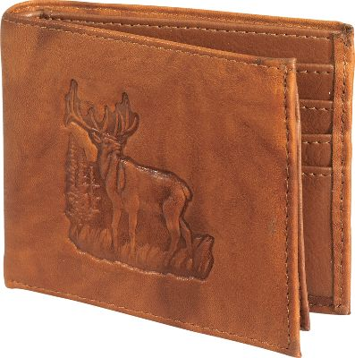 Hunting Each of these handsome billfolds is crafted of the finest full-grain leather and includes your choice of detailed wildlife designs that are sure to rekindle fond memories of days afield. The inner components are constructed of long-wearing, manmade materials.Available: Buck and Doe, Aspen Buck and Doe.Colors: Tan, Dark Brown. Type: Wallets. Buck & Doe. Color Dark Brown. - $14.99