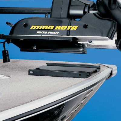 Fishing Motor-Mate removable trolling motor mounts allow easy installation and removal of any Minn KotaPowerdriveand AutoPilot trolling motors, including the new GripGlide models. Mounts are made of solid 1/4 aircraft-grade aluminum with a black powder-coat finish to stand up to frequent use and harsh weather. The base plate will not hang over the gunwale and has no sharp corners to tear boat covers. Deck base measures 7-5/8 W x 12 L x 5/8 H and has four counter-sunk mounting holes. Color: Black. - $40.88