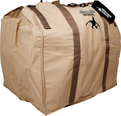 Hunting No one will deny that full-bodied decoys are excellent at fooling waterfowl, but theyre a pain to transport. XL-Series Slotted Decoy Bags carry full-bodied goose decoys with the bases attached. No more hassles removing bases, storing decoys and carrying the two separately. Made of heavy-duty tan nylon, the unique slot configuration protects flocking and paint. Thick, padded, adjustable shoulder strap for easy transport. The XL-6 model has sturdy two-man carry handles on the sides. Imported. Available: 4 Slot 32L x 24W x 31D, 6 Slot 36L x 32W x 31D. Size: 6-SLOT DECOY BAG. Color: Tan. - $79.99