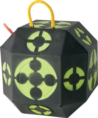 Hunting Hone your aim and placement with 18 high-visibility targets on this ready-to-travel, self-healing foam block. Its unique, 18-sided shape means there is always a fresh side ready for more shooting. Safe for practice with field points, broadheads and expandables. Lightweight construction with a built-in handle for easy transport. Self-healing, weatherproof foam construction. It automatically seals arrow holes in seconds; stops field points, broadheads and expandables with ease; and offers hassle-free extraction with no layers or filler. Dimensions: 15 L x 15 H. Color: Black. Type: Foam-Block Targets. - $129.99