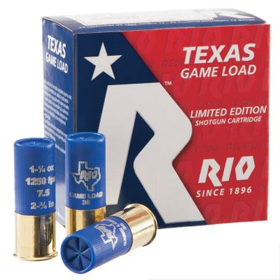 Guns and Military Shotgun shells specially developed for high-flying Texas doves, but will perform just as well on the fast-darting birds outside the Lone Star state. Theyre loaded with 1-1/4 oz. of pellets that are consistently formed to result in excellent patterns and deadly on-target performance. Available in your choice of No. 7-1/2 or No. 8 shot in standard 1,250 fps shells or high-velocity 1,330 fps loads. 25 shells per box. 10 boxes per case. - $89.99