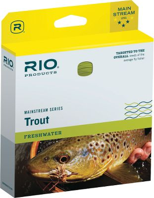 Flyfishing Designed for the novice or average fly angler, this reasonably priced line optimizes rod performance with slightly heavier line and shorter head length, resulting in good presentation and turnover. Size: MAINSTREAM TROUT WF3. Type: Floating Freshwater. - $39.95