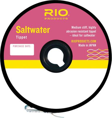Fishing Ideal for saltwater, this tippet material is medium stiff and offers a superior resistance to abrasion. Length: 30 yards. Available: 8, 10, 12, 16, 20, 25, 30-lb. test. Type: Saltwater Tippets. - $4.95