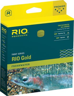 Flyfishing The revolutionary taper design of the RIO Gold produces incredible loop stability. Plus, the unique profile allows a rod to load at close range. The front taper delivers perfect presentation of flies between sizes No. 22 and No. 2. Front and back loop. Dual Tone. Size: RIO GOLD WF3F. Color: Gold. Type: Floating Freshwater. - $74.95