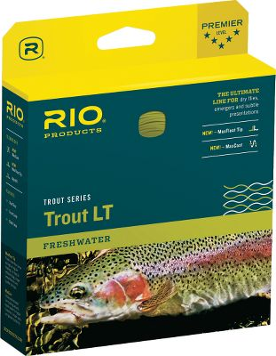 Flyfishing This Trout Light Touch line has a long, fine front taper for the lightest presentation. Specifically designed with the roll and single-handed spey caster in mind, it performs these extremely handy casts with the utmost of ease. The extra supple line features the MaxFloat Tip, Rios proprietary tip coating formula that floats more than twice as high as regular floating lines. Perfect for fishing dry flies, nymphs and emergers. Front and back loop for ease of rigging. Dual tone. Size: TROUT LT WF5F SAGE. Type: Floating Freshwater. - $74.95