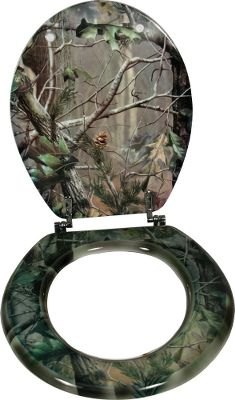 "Entertainment Perfect for hunting camps and bachelor pads. Standard toilet seat size. Made of camo-covered wood material. Imported.Dimensions: 15-1/2"" x 13-1/2""Camo pattern: Realtree APG . - $39.88"