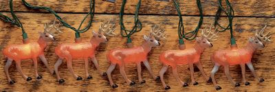 Hunting Who doesn't dream of big bucks casually strolling out of a thick stand of trees on opening morning? These lights will shine on those dreams and brighten your home, cabin or campsite. Length: 10 ft. - $19.99