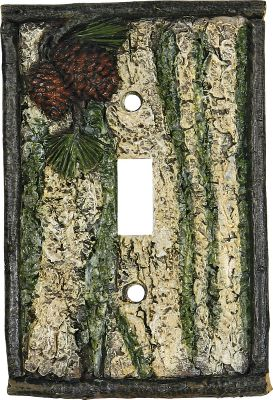 Dress up your home, cabin or lodge with these pine cone electrical covers. Each is crafted of hand-painted poly-resin with detailed texturing. Hardware included. Imported.5L x 3.25W x .35D. Type: Switch Covers. - $9.99