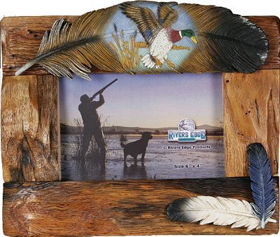 Hunting Beautiful, hand-painted poly-resin picture frames that feature fun animal-inspired accents. The animal-accented piece is glued onto the photo holder. Imported. Available: Deer, Deer Antler, Bass, Bear. Type: Picture Frames. - $14.99