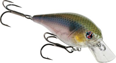Fishing This square-billed crankbait sports a highly detailed color scheme and unique vibration pattern that attracts a variety of fish. Endorsed and designed by professional angler Ish Monroe, its Bumping rattle is the key to its effectiveness. River2Seas ultrasharp hooks provide optimum fish-holding power. Per each. Sizes: 5/16 oz., 2-1/4, dives 2-4 ft. 9/16 oz., 2-5/8, dives 3-5 ft. Colors: (001)TS Minnow, (002)Da Heater, (005)Abalone Shad, (006)Cold Blooded, (007)Splattered, (008)Krackel. - $8.49
