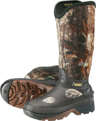 Hunting Stay warm and dry in any weather with these convertible boots. The 16 neoprene uppers can be worn at full height or rolled down to match the terrain. Tough rubber outsoles with self-cleaning tread deliver superior traction in the nastiest muck and mud. 800-gram Thinsulate Ultra Insulation provides warmth in cold weather. Rubber heel kick plate for easy boot removal. Imported. Height: 16.Average weight: 6.8 lbs./pair.Mens whole sizes: 5-14.Camo pattern: Realtree AP. - $129.99