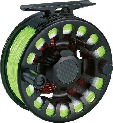 Flyfishing Inspired by the braking systems on Formula 1 race cars, Ross F1 fly reels integrate durable, heat-resistant carbon fiber and stainless steel into a drag mechanism with eight independent contact points, creating the smoothest and most dependable drag system available. A full 2 square inches of carbon-fiber drag surface promotes unsurpassed stopping power and heat dissipation. Carbon-fiber stabilizer with two fully sealed stainless steel ball bearings ensures a precision fit and smooth rotation of the spool. A fully sealed Ross proprietary clutch bearing enables retrieve conversion without removing the bearing an industry first. 10 separate O-rings completely seal the system, making it totally impervious to the drag-changing effects of water. One-piece frame and one-piece spool are fully machined from 6061-T6 proprietary aluminum alloy. Manufacturers lifetime warranty. Made in USA. Color: Black. Type: Freshwater Fly Reels. - $475.00