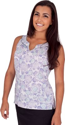 Entertainment Light, fast-drying and eco-friendly, the Wildflower Tank is sure to become your travel-ready favorite. The low-maintenance, wrinkle-resistant blend of fabric provides the durability of recycled nylon with the garment-washed softness of organic cotton. Solid contrasting piping on the yoke and inside add style and visual interest. Straight hem with side vents for extra breathability. Notched V-neck. Imported. Center back length for size M: 26. Sizes: S-XL. Colors: Aloe, Light Slate. - $24.88