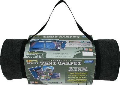 "Camp and Hike Keep the inside of your tent warm and dry with this Tent Carpet Liner. The waterproof backing prevents leaks. This plush warm carpet is enjoyable to walk and sleep on. And it's stain-resistant, so it will look great for years. It's lightweight and easy to move. Cut it to fit the size of your tent floor. Also perfect for picnics. Easy to clean with soap and water. Simply vacuum, wash and dry. Machine washable. Made in USA.Weight: 7 lbs.Size: 88"" x 100"".Color: Charcoal Grey. Type: Tent Accessories. - $54.99"