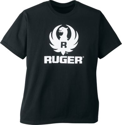 Show your Ruger pride with this 100 cotton, 6.1-oz. heavyweight tee. It's preshrunk, with double-needle hemming and a seamless collar. Imported. Sizes: M-2XL. Color: Black. Size: Medium. Color: Black. Gender: Male. Age Group: Adult. Material: Cotton. - $9.99