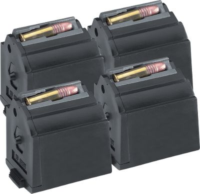 Target shooters and varmint hunters can never have too many magazines for their 10/22. Now is your chance to stock up on factory replacement magazines. These 10-round magazines are the same as those that come with your rifle. .22 Magnum, per 4. Type: 10/22 Magazines. - $64.99