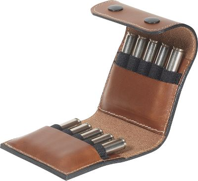 Hunting This compact and handsome, two-level cartridge wallet is crafted of top-grain Italian leather. It holds 10 centerfire rifle cartridges and has a belt loop for easy carrying. Colors: Tan, Dark Brown. Color: Dark Brown. - $29.99