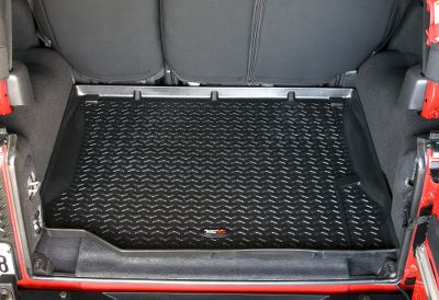 Motorsports Outfit your trucks flooring with the best protection. Unlike thinner floor mats, these durable, OEM-quality thermoplastic liners are injection-molded for extra thickness and a long-lasting finish. High retaining walls hold their shape in all weather conditions and boast three times the depth of other liners to better contain trapped water and mud. Exacting measurements ensure a custom fit. Self-sealing floor-hook attachment prevents dirt and moisture from passing through to the carpet while securing the liners to your vehicle. Raised nibs on the bottom keep the liners securely in place. Chevron-shaped raised pattern channels water and dirt away. Raised reinforced heel area prevents heel sticking and increases durability.Colors: Tan, Gray, Black. Year: 07-1307-13. Type: Cargo & Floor Mats. Model: JK Wrangler 2-Dr.JK Wrangler 4-Dr.. Make: Jeep. Color: Black. Year/Make 07-10 Wrangler Jk. Color Black. - $89.99