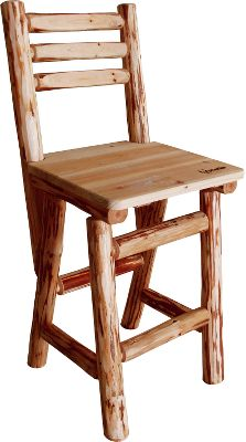 Entertainment Sit comfortably on one of these handcrafted solid-pine chairs and unwind with friends and family. Makes a great addition to any game room, home or cabin. Protected by a scratch-resistant polyurethane finish. Dimensions: 42H x 19W x 19D.Seat height: 30. Type: Pub Chairs. - $179.99