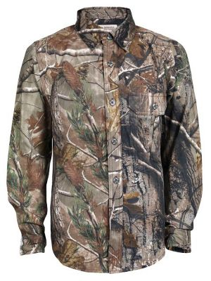 Hunting Outfit your junior explorer with a lightweight, camouflage shirt thats ready for the hunt. Made of 5.4-oz. 100% cotton jersey for comfort. Machine washable. Imported.Sizes: S-XL.Camo patterns: Mossy Oak Break-Up Infinity, Realtree AP. - $5.88