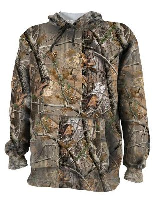 Hunting Keep your child warm and comfortable with a soft, fleece-lined sweatshirt. Elastic cuffs, waist and hood block out the cold. Double-needle stitching enhances durability. 75/25 cotton/polyester fleece construction. Imported.Sizes: S-XL.Camo patterns: Realtree AP, Mossy Oak Break-Up Infinity. - $29.99