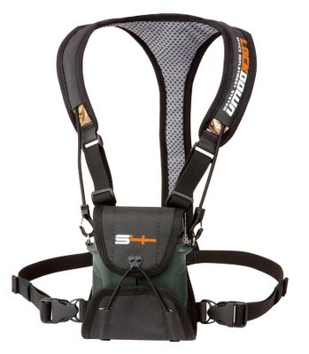 Hunting Unlike other binocular harness systems, this one has a built-in lens protection to keep your optics clean and ready for glassing. ShockCord security straps ensure a comfortable, secure fit. Imported. Sizes: Small (fits optics 4.5-6 in length), Large (fits optics 6-7.5 in length). Colors: Black, Camo. Color: Black. Type: Binocular Cases. - $39.99