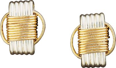 Entertainment Handcrafted of solid sterling silver with 14-kt.-gold filled knots, these pieces are crafted to resemble the originals that were woven from African elephant hair, believed to protect against harm, illness and misfortune, while also bringing the wearer years of strength, love and prosperity, The Post Earrings are the perfect accent to dress up any attire. - $59.99