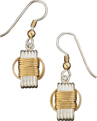 Entertainment Handcrafted of solid sterling silver with 14-kt.-gold filled knots, these pieces are crafted to resemble the originals that were woven from African elephant hair. The Dangle Earrings are the perfect accent to dress up day or evening attire. Type: Earrings. - $79.99