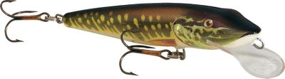 Fishing Big pike and muskie love to eat baby pike and this lure! The wide wobbling Floating model is incredibly enticing and accurately mimics a distressed juvenile pike. Per each. Color: (900)Pike. Performance Guarantee Salmo-USA backs up their Performance Fishing Lures with more than just words - they're guaranteed! If for any reason your Salmo lure breaks, fails to run true, or falls apart (except if you wear out the hooks, of course), Salmo will replace if free of charge. That's how confident the company is in the durability and fish-catching ability of its products. Just ship the damaged or broken lure and Salmo covers everything from there. So fish a Salmo with confidence it's guaranteed to perform. Color: (900)Pike. - $10.99