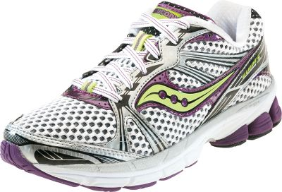 Fitness A lighter, more flexible version of Sauconys most popular shoes. Moisture-wicking HydraMAX collar linings. HRC Strobel board for support. Dual-density EVA midsoles. XT-900 outsoles. Imported. Average weight: 9.1 oz./pair. Womens sizes: 6-10 medium width. Half sizes to 10. Color: White/Purple/Citron. Size: 6.5. Color: White/Purple/Citron. Gender: Female. Age Group: Adult. - $99.88