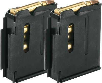 These magazines are metal five- and 10-round replacement magazines for all Savage 93-series .22 Magnum and .17 HMR rifles. Keep several loaded for continuous shooting or replace the one that mysteriously disappeared after your last outing. Per pair. Available: 5-Round Blued, 5-Round Stainless Steel, 10-Round Blued, 10-Round Stainless Steel. Color: Blued. Type: Rifle Magazines. - $37.99