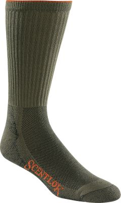 "Hunting For years, hunters have had to settle for near-perfect scent control. But there's always been one vital piece missing from their system socks. But now, thanks to advancements in fabric development, you can enjoy all the odor-adsorbing power of Scent-Lok in comfortable, moisture-wicking socks. This innovative footwear pairs Scent-Lok's patented carbon technology with CoolMax acrylic knit construction, making it ideal for wear in moderate temperatures. Plus, the unique Visa Endurance antimicrobial treatment prevents the growth of bacteria and fungi for even more odor control. Fully-padded footbeds for added comfort. A low-density arch support ensures a snug fit. Made in USA.Height: 11"". Men's sizes: L(9-11), XL(11-13).Color: Green. - $5.88"